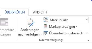 Die Funktion in Word 2013 aktivieren