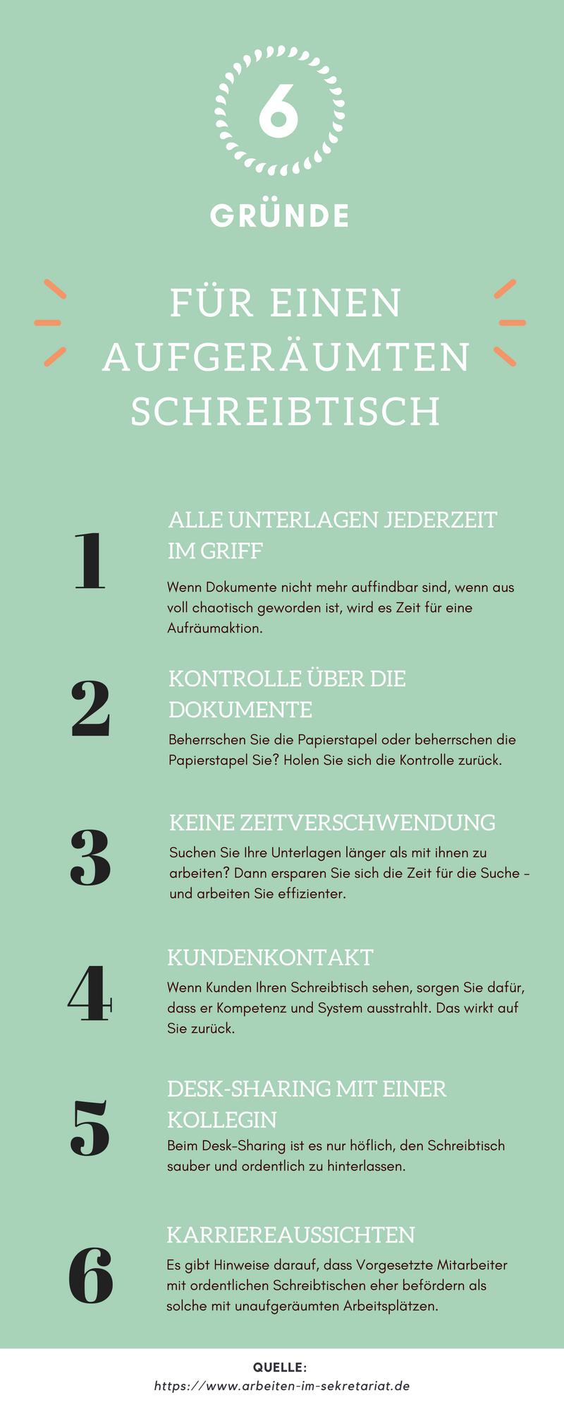 6 Gründe für einen aufgeräumten Schreibtisch