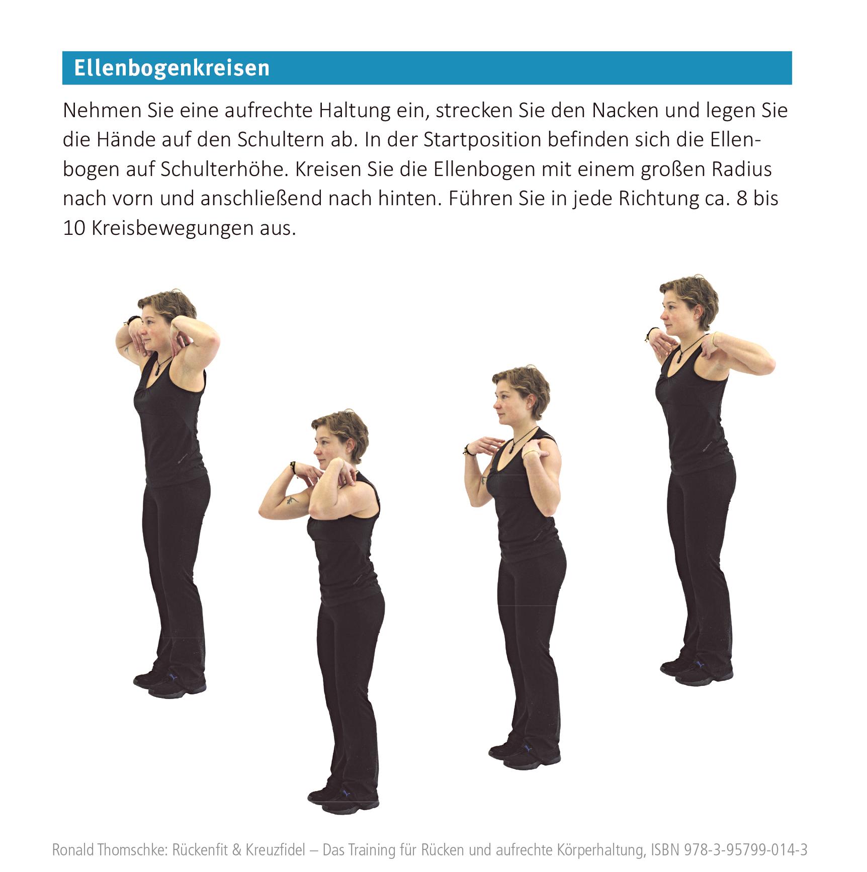 Ellenbogenkreisen gegen Rückenschmerzen
