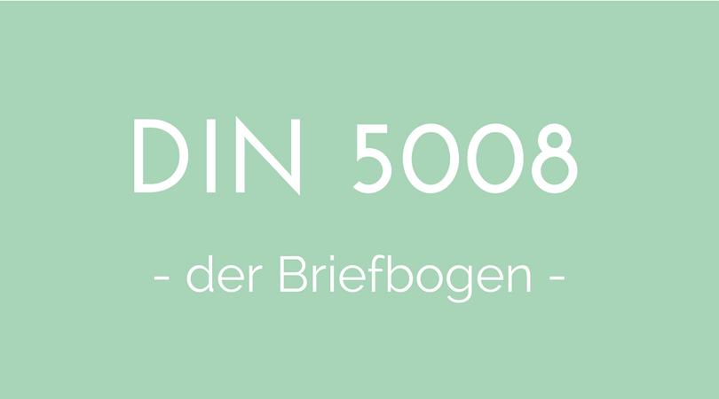 DIN 5008 Briefbogen