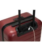 Koffer mit eingebautem Ladegerät